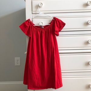 Red off the shoulder Dress!!